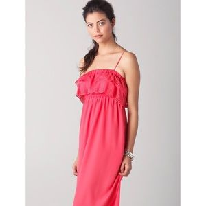 Susana Monaco Elsa maxi dress in Fire Coral NWOT